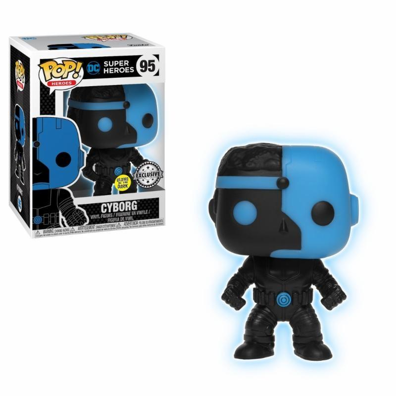 JUSTICE LEAGUE - Bobble Head POP N° 095 - Cyborg Silhouette GITD LT