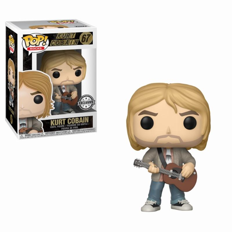 ROCK - Bobble Head POP N° 67 - Kurt Cobain with Sweater LIMITED