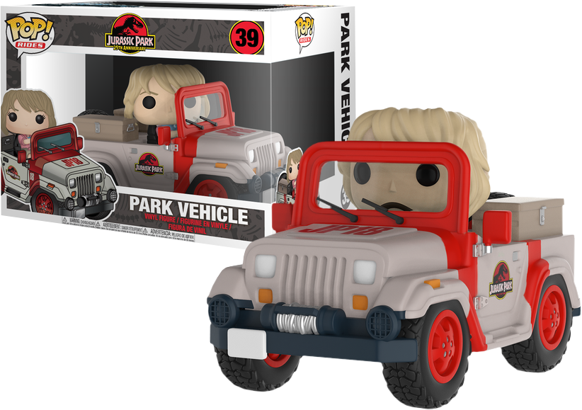 JURASSIC PARK - Bobble Head POP Ride N° 39 - Park Vehicle