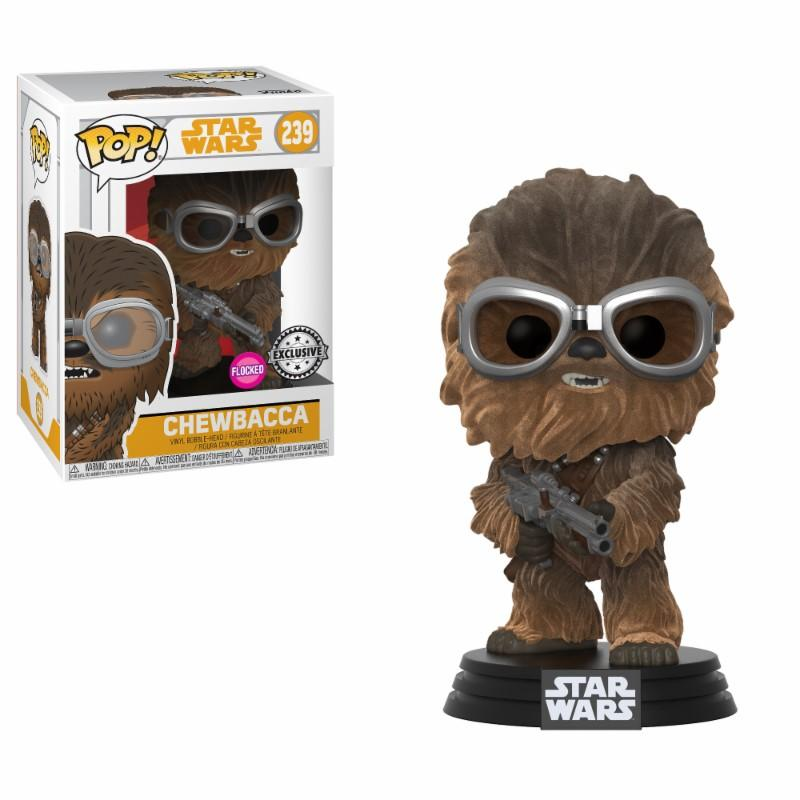 STAR WARS - Bobble Head POP N° 239 - Chewbacca FLOCKED LTD