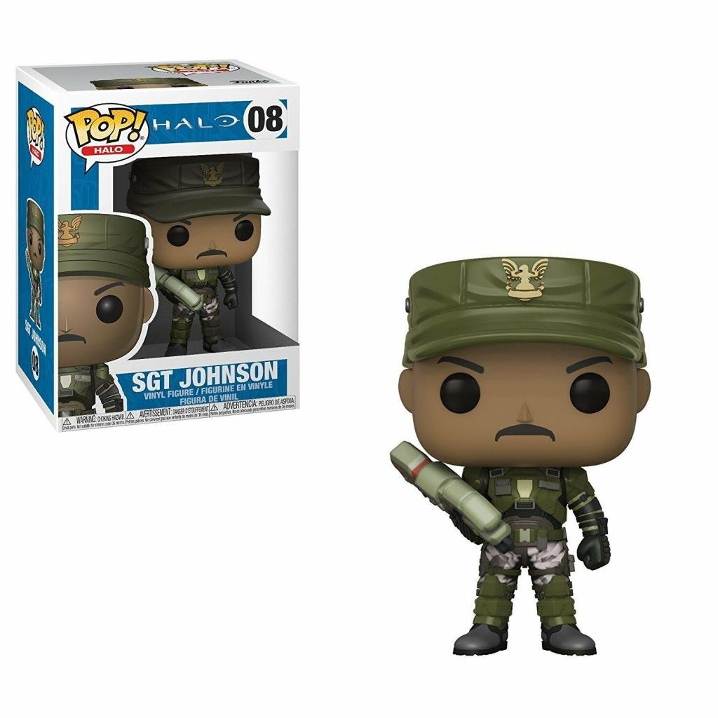 HALO - Bobble Head POP N° 08 - Sgt. Johnson