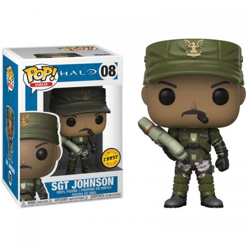 HALO - Bobble Head POP N° 08 - Sgt. Johnson CHASE EDITION