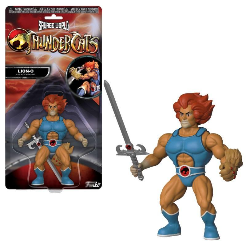 COSMOCATS - Savage World - Figurine Articulée - World Lion-O - 10cm
