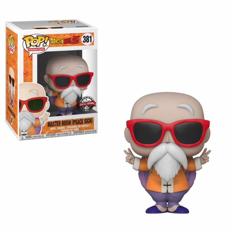 DRAGON BALL Z - Bobble Head POP N° 381 - Master Roshi Peace Sign LTD