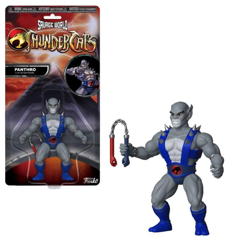 COSMOCATS - Savage World - Figurine Articulée - Panthro - 10cm