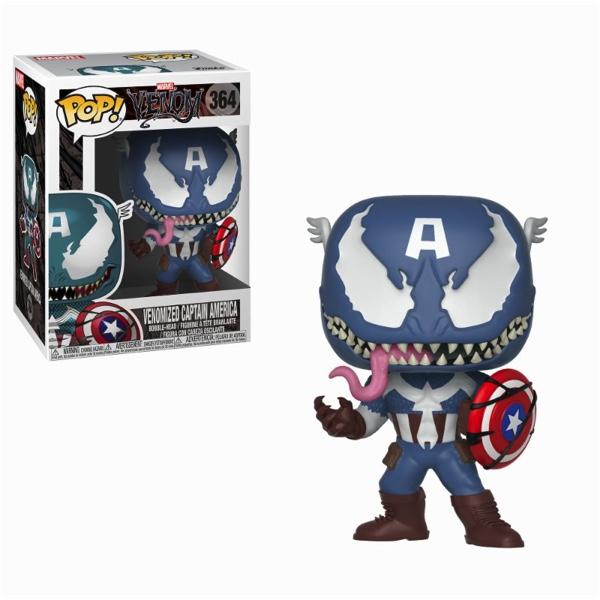 MARVEL VENOM - Bobble Head POP N° 364 - Venom/Captain America