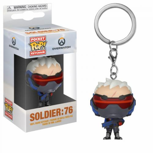 Pocket Pop Keychains : Overwatch - Soldier 76