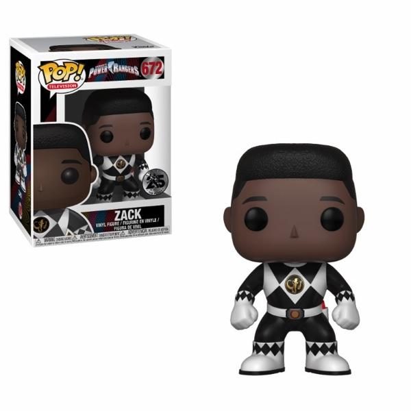 POWER RANGER - Bobble Head POP N° 672 - Black Ranger Without Helmet
