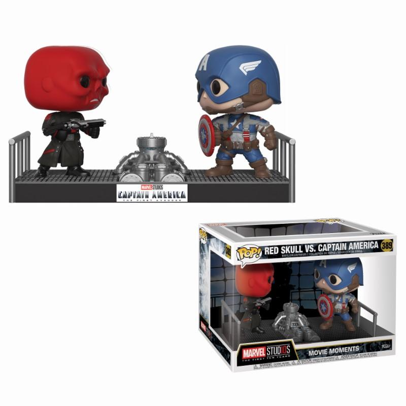 MARVEL - Movie Moments Pop N° 389 - Captain America Vs Red Skull