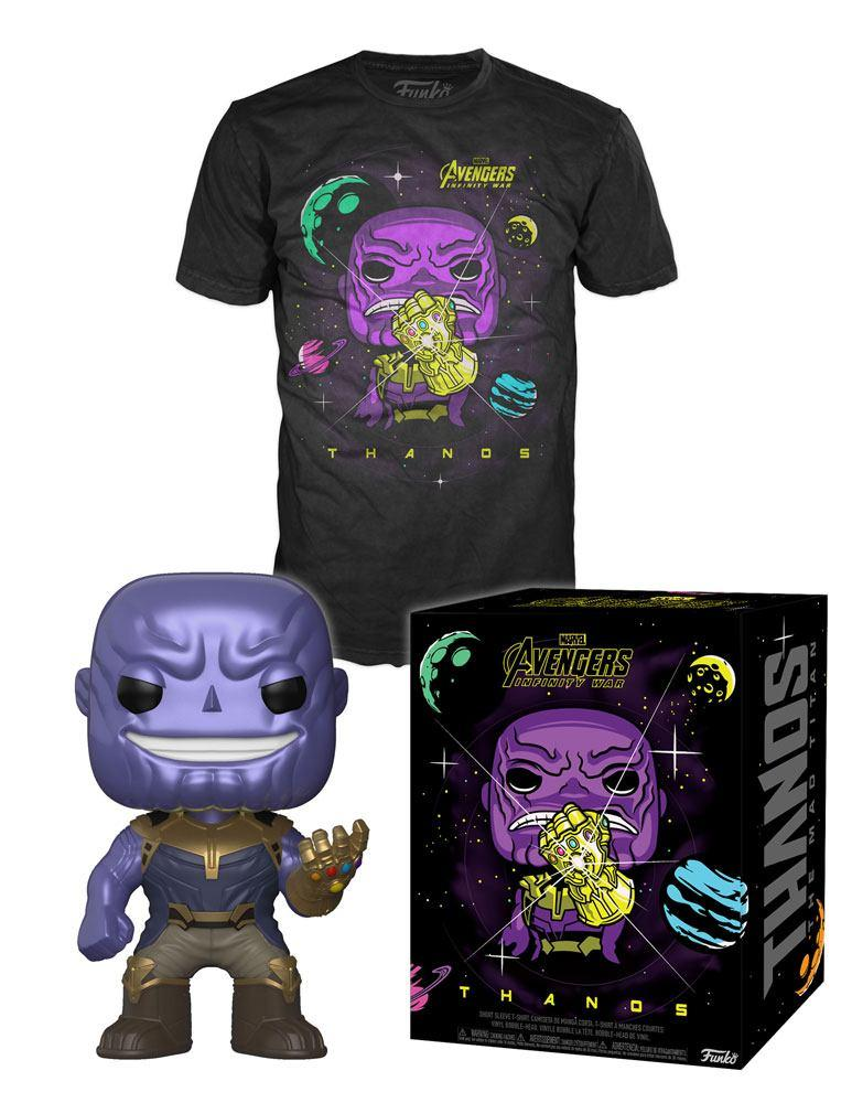 MARVEL - Boxed T-Shirt POP + POP - Infinity War Thanos (S)_1