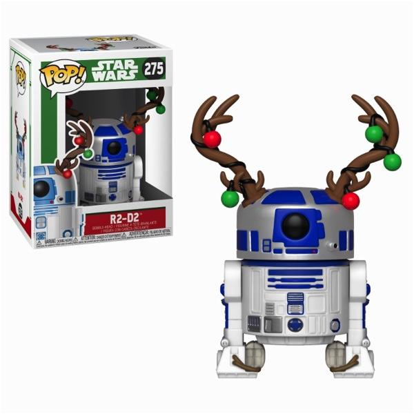 STAR WARS - Bobble Head POP N° 275 - Holiday - R2-D2 with Antlers