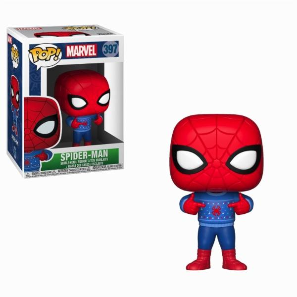 MARVEL - Bobble Head POP N° 397 - Holiday Spider-Man_1