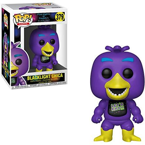 FIVE NIGHTS AT .. - Bobble Head POP N° 379 - Black Light Chica LIMITED