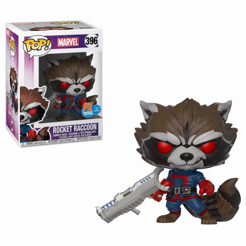 MARVEL - Bobble Head POP N° 396 - Classic Rocket Raccoon LIMITED