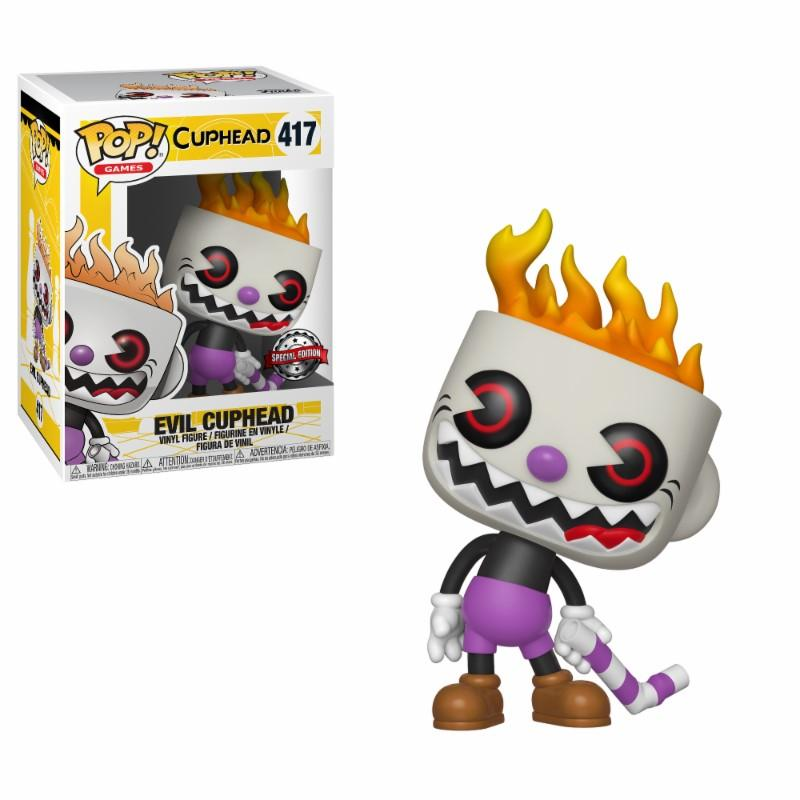 CUPHEAD - Bobble Head POP N° 417 - Soulless Cuphead LIMITED_1