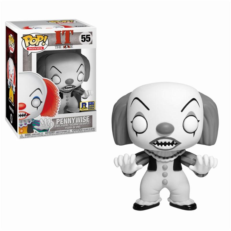 IT - Bobble Head POP N° 55 - Classic Black and White Pennywise LIMITED