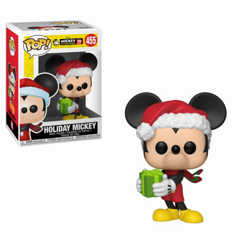 DISNEY - Bobble Head POP N° 455 - Mickey 90th - Holiday Mickey