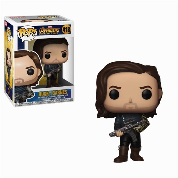 AVENGERS INFINITY WAR - Bobble Head POP N° 418 - Bucky with Weapon