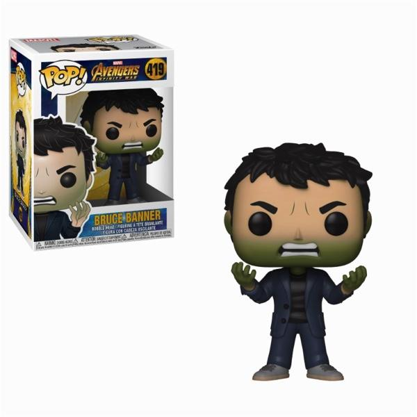 AVENGERS INFINITY WAR - Bobble Head POP N° 419 - Banner Hulk Head