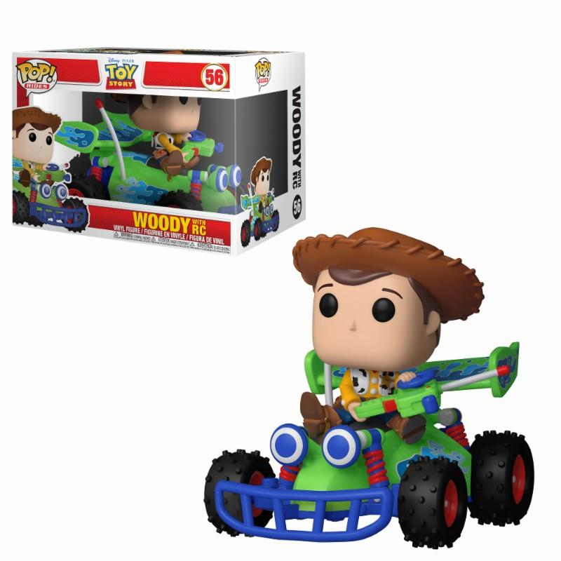 DISNEY - Bobble Head POP Ride N° 56 - Toy Story : Woody with RC