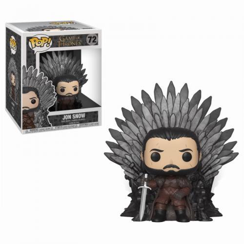 GAME OF THRONES - Bobble Head POP N° 72 - Jon Snow Throne OVERSIZE