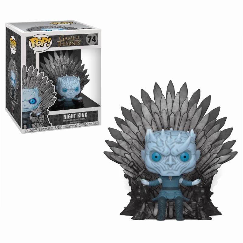 GAME OF THRONES - Bobble Head POP N° 74 - Night King Throne OVERSIZE