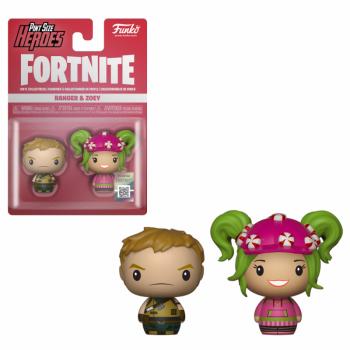 FORTNITE - 2 Pint Size Heroes Figures - Ranger & Zoey - 6cm