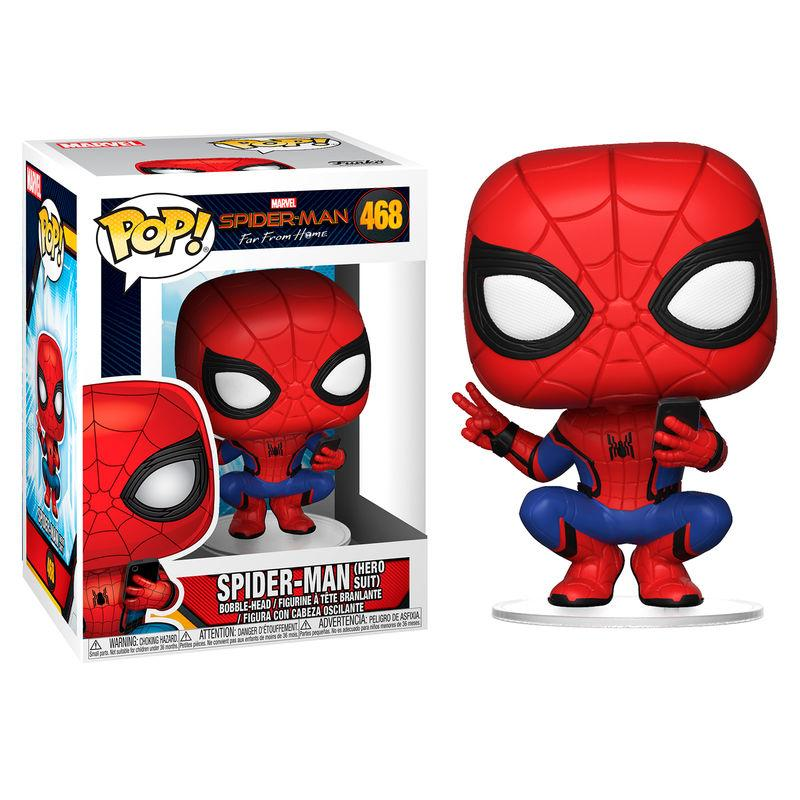 MARVEL FAR FROM HOME - Bobble Head POP N° 468 - Hero Suit Spiderman