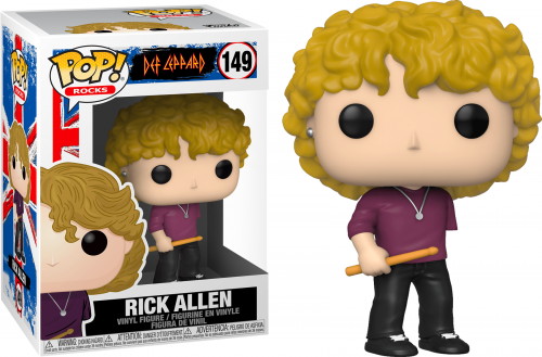 DEF LEPPARD - Bobble Head POP N° 149 - Rick Allen - 9cm