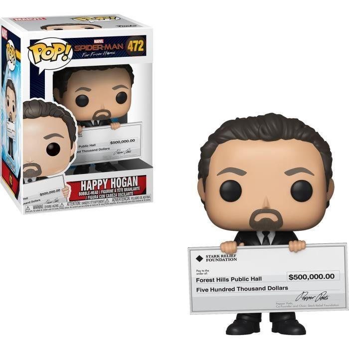 MARVEL FAR FROM HOME - Bobble Head POP N° 472 - Happy Hogan