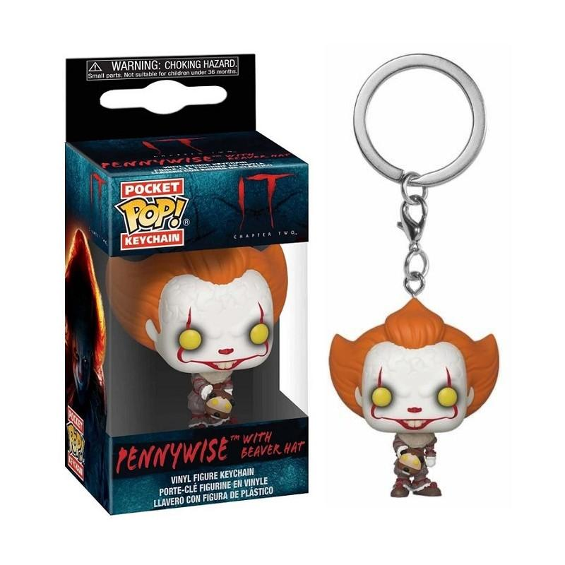 Pocket Pop Keychains : IT Chaper 2 - Pennywise with Beaver Hat