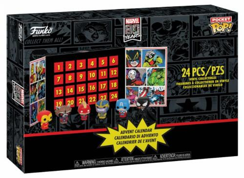 MARVEL - Pocket Pop - Calendrier de l'avent 2019 - 24 figurines