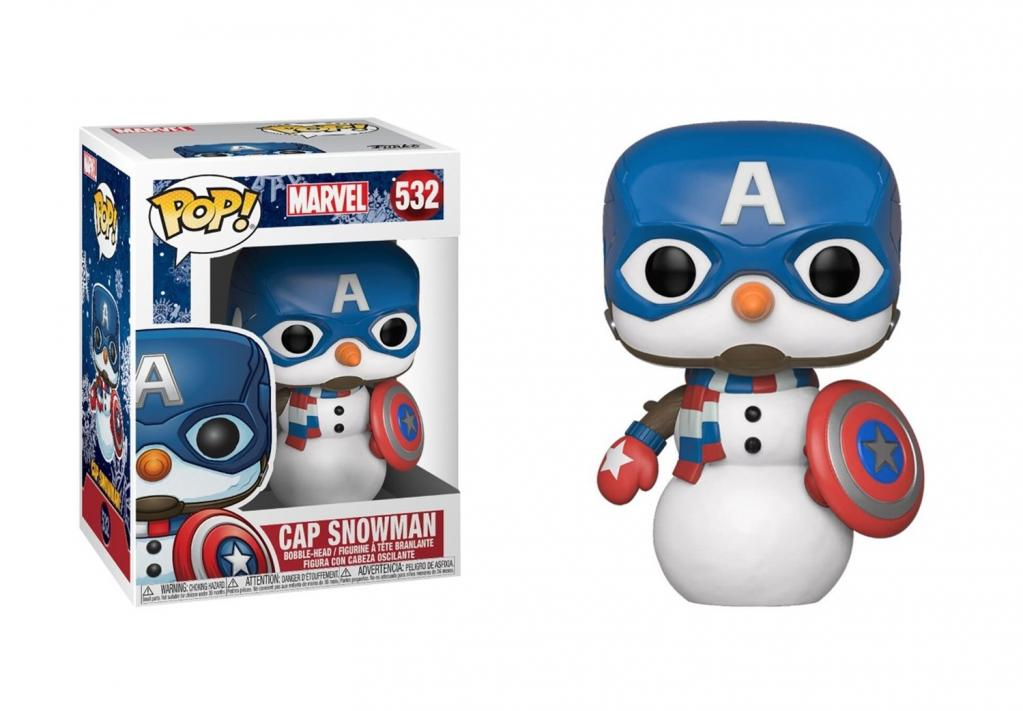 MARVEL - Bobble Head POP N° 532 -Holiday - Captain America