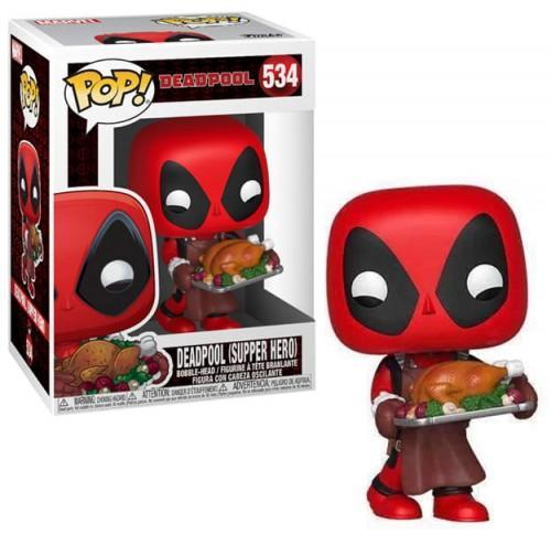 MARVEL - Bobble Head POP N° 534 - Holiday - Deadpool
