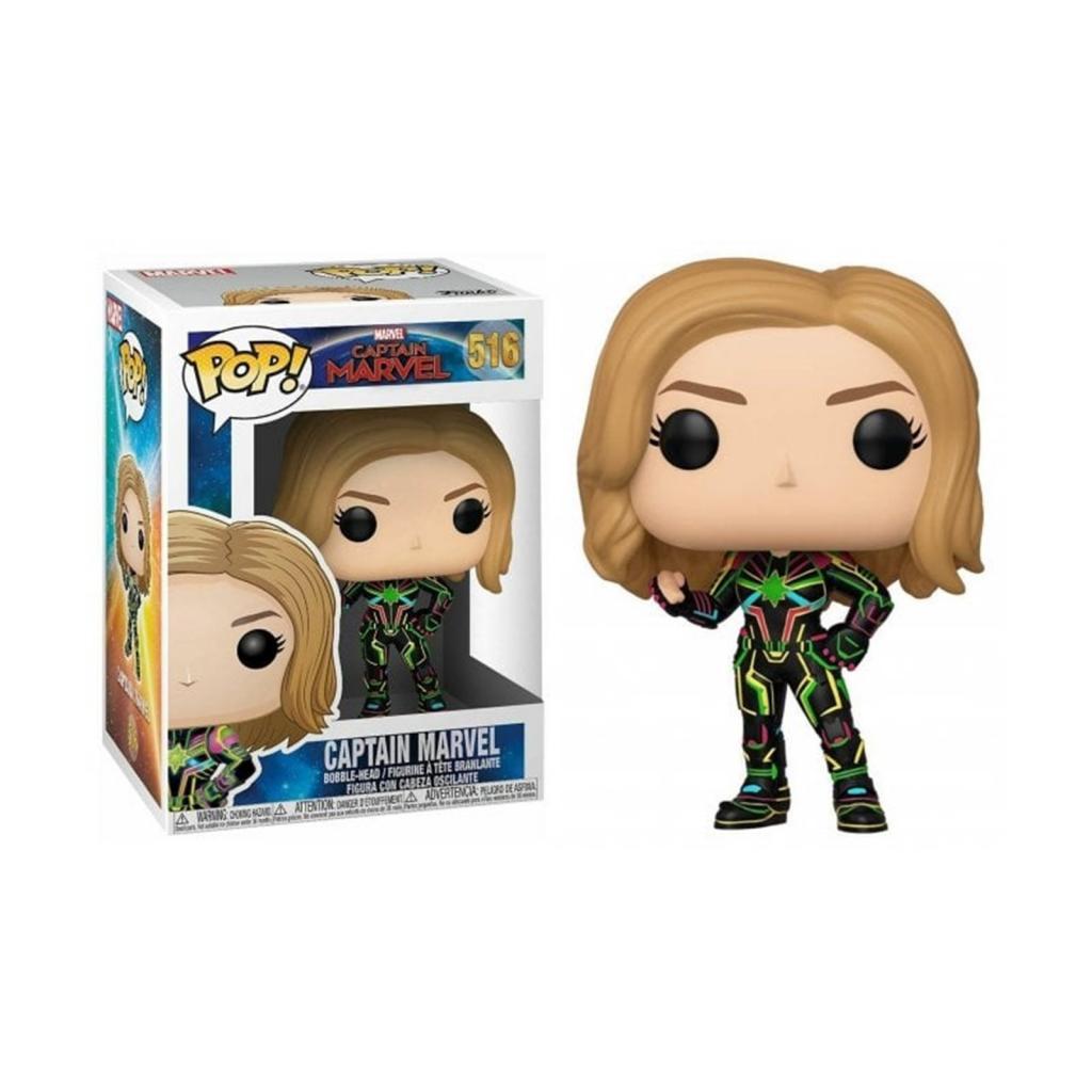 MARVEL - Bobble Head POP N° 516 - Captain Marvel with Neon Suit