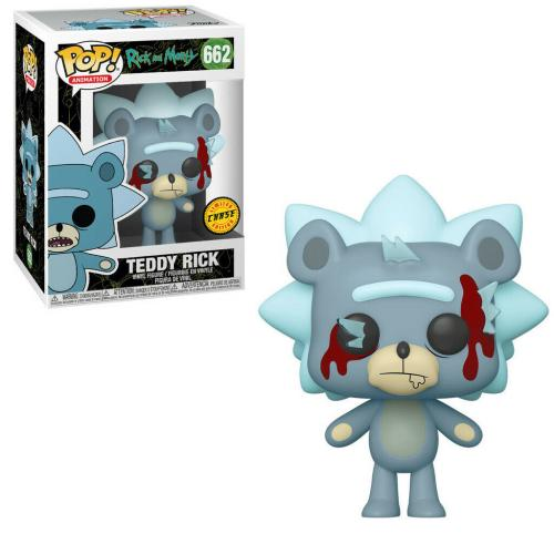 RICK & MORTY - Bobble Head POP N° 662 - Teddy Rick CHASE EDITION