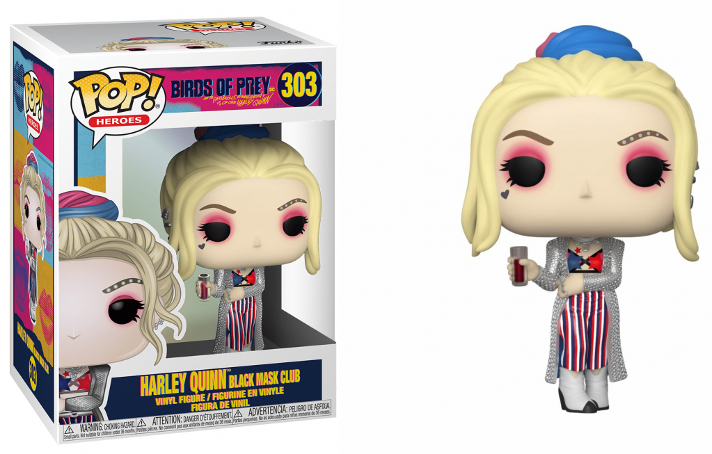 BIRDS OF PREY – Bobble Head POP N° 303 – Harley Quinn Black Mask Club