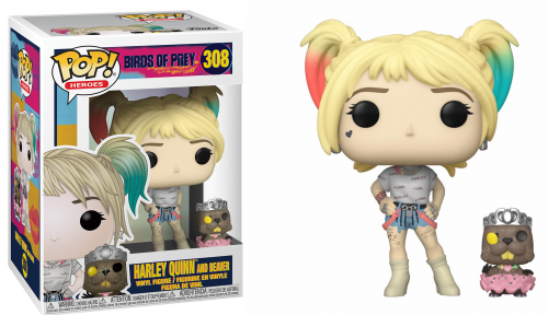 BIRDS OF PREY - Bobble Head POP N° 308 - Harley Quinn w/Beaver