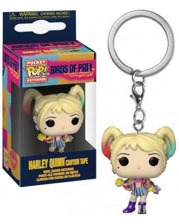 BIRDS OF PREY - Pocket Pop Keychains - Harley Quinn Caution Tape - 4cm