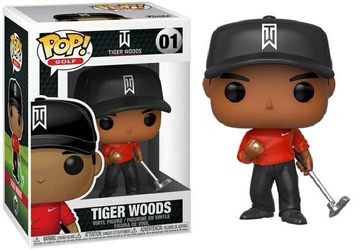GOLF - Bobble Head POP N° xxx - Tiger Woods (Red Shirt)
