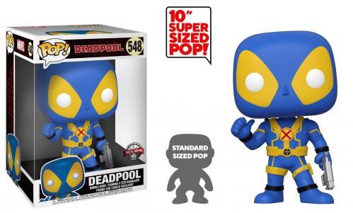 DEADPOOL - Bobble Head POP N° 548 - Thumbs Up Blue OVERSIZED 10 inch