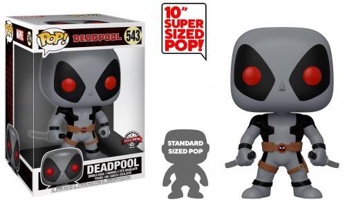 DEADPOOL - Bobble Head POP N° 543 - Two Swords Gray OVERSIZED 10 inch