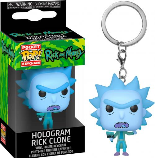 RICK & MORTY - Pocket Pop Keychains - Hologram Rick Clone - 4cm