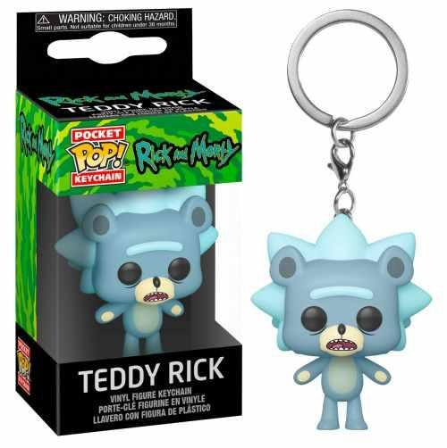 RICK & MORTY - Pocket Pop Keychains - Teddy Rick - 4cm_1