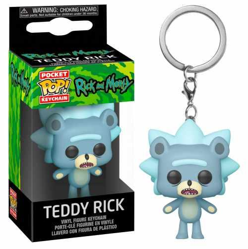 RICK & MORTY - Pocket Pop Keychains - Teddy Rick - 4cm