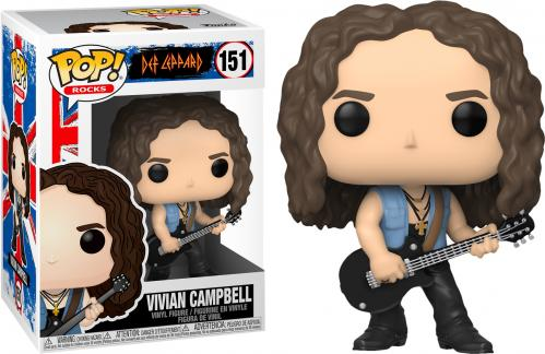 DEF LEPPARD - Bobble Head POP N° 151 - Vivian Campbell - 9cm