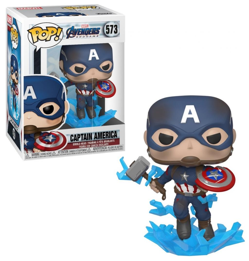 MARVEL - Bobble Head POP N° xxx - Endgame - Captain America & Mjolnir