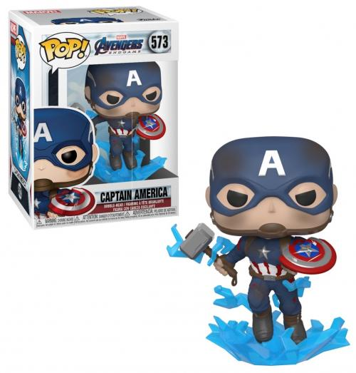 MARVEL - Bobble Head POP N° 573 - Endgame - Captain America & Mjolnir