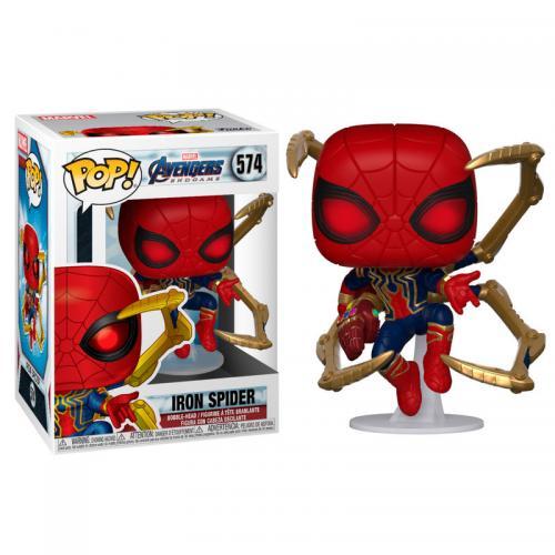 MARVEL - Bobble Head POP N° 574 - Endgame - Iron Spider Man & Gauntlet