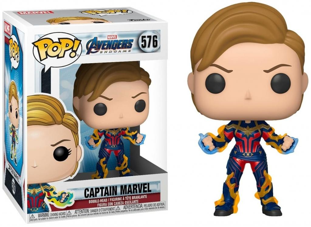 MARVEL - Bobble Head POP N° xxx - Endgame - Captain Marvel w/ New Hair